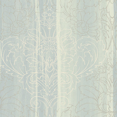 SCALAMANDRE WALLCOVERING-WMAMF020614-ANGEL-TURQUOISE,SILVER,WHITE