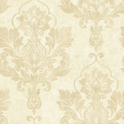 SCALAMANDRE WALLCOVERING-WMAMF020709-OSPREY-CREAM METALLIC