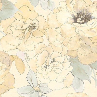 SCALAMANDRE WALLCOVERING-WMAMF030416-PAPER ROSE-WHITE
