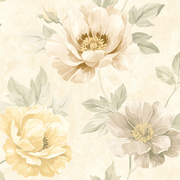 SCALAMANDRE WALLCOVERING-WMAMF030600-KINSLEY-CREAM,GOLD