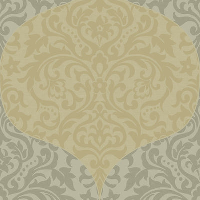 SCALAMANDRE WALLCOVERING-WMAMF030612-POWER-GOLD,SILVER