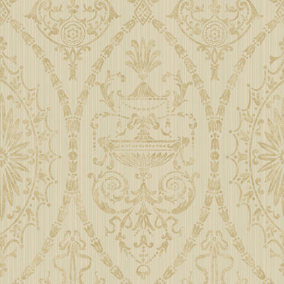 Scalamandre Wallcovering - WMAMF050204 - ADAMS - TURQUOISE GOLD