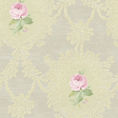 Scalamandre Wallcovering - WMAMF060202 - CAMEO ROSE - NEUTRAL