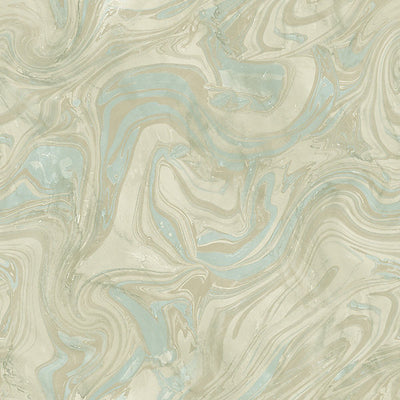 SCALAMANDRE WALLCOVERING-WMAST040910-PETRA-TURQUOISE
