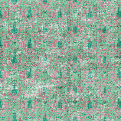 NICOLETTE MAYER WALLCOVERING-WNM1021BYZA-BYZANTINE JEWEL-GREEN
