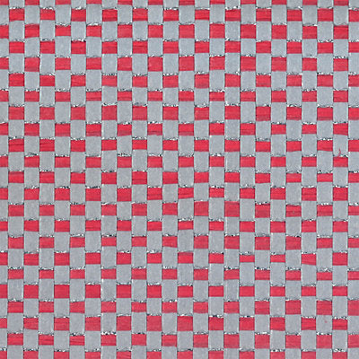 Scalamandre Wallcovering - WPWPPW105 - METAL YARN PAPERWEAVES - RED / GREY