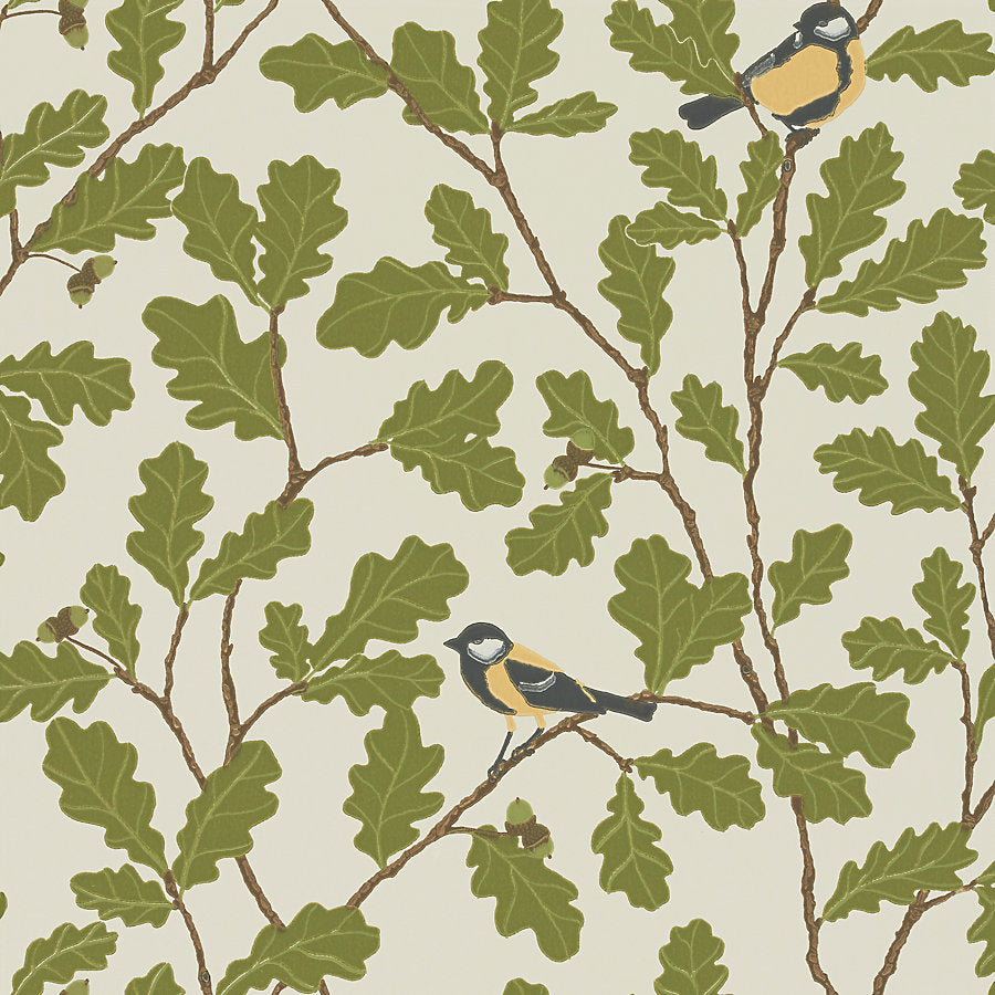 Sandberg Wallcovering - WSB00190471 - WALDEMAR - BEIGE/GREEN/BROWN