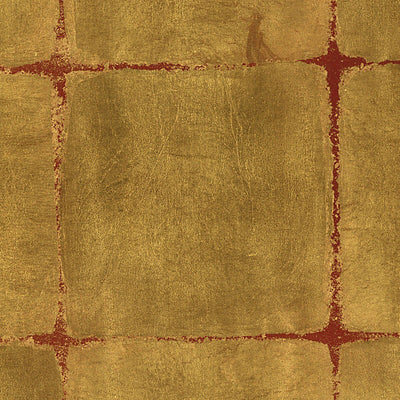 SCALAMANDRE WALLCOVERING-WTOGA53-GOLD LEAF SQUARES-GOLD ON LACQUER
