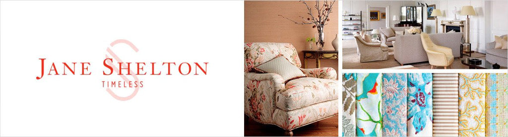 Jane Shelton Fabrics, a selection of fabrics such as velvet, damask, cotton, silk, linen and sheers.