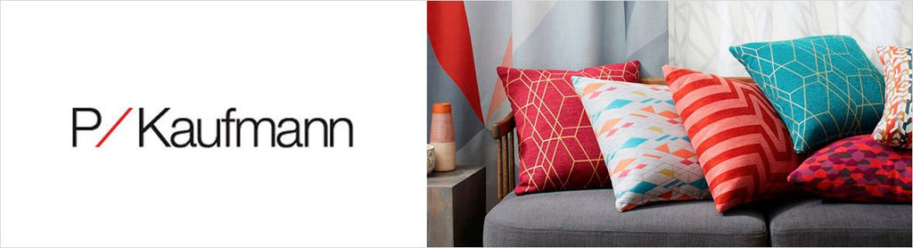 P Kaufmann Fabrics, a selection of fabrics such as velvet, damask, cotton, silk, linen and sheers.