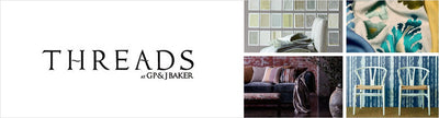 Threads Fabrics, a selection of fabrics such as velvet, damask, cotton, silk, linen and sheers.