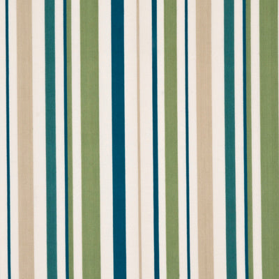 Baker Lifestyle Fabric - West Green Stripe - Leaf/Teal/Natural
