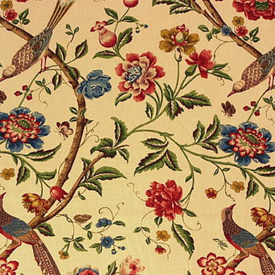 G P & J Baker Fabric - Elinors Chinese - Cream/Brick