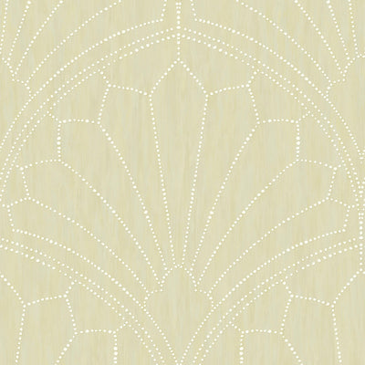 SEABROOK WALLPAPER-SCALLOP MEDALLION-SAND DUNES-RY31505