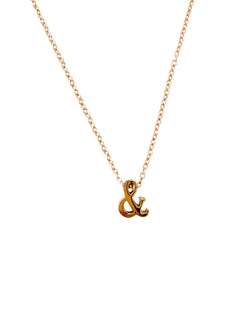 Rose Gold Ampersand Necklace