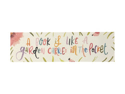 Garden Quote Watercolor Bookmark