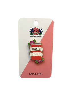 Book Nerd Enamel Pin