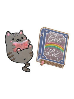 Reading Cat & Get Lit Book Patches