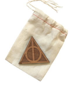 Wooden Deathly Hallows Magnet