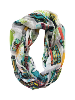 Library Print Infinity Scarf