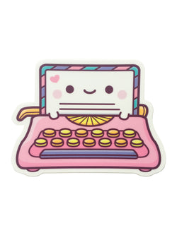 Kawaii Typerwriter Sticker