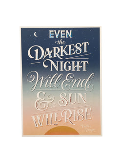 Les Miserables Quote Print