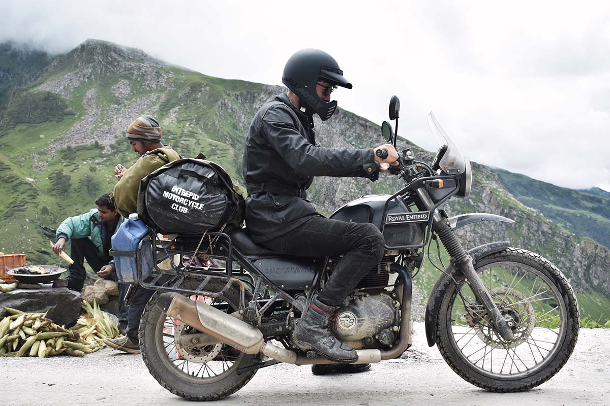 Bell Moto 3 Royal Enfield Packed On The Road