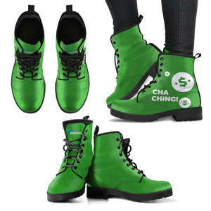 Cha Ching! Leather Boots - Women's
