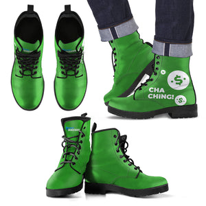 Cha Ching! Leather Boots  - Men's