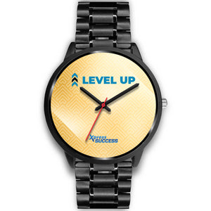 Level Up Women's Watch in Black - Gold Face