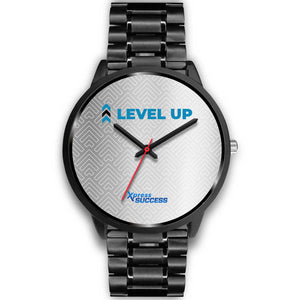 Level Up Women's Watch in Black - Silver Face
