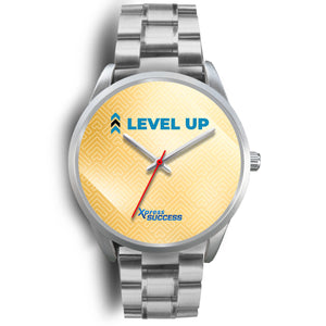 Level Up Women's Watch in Silver - Gold Face