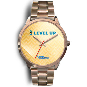 Level Up Women's Watch in Rose Gold - Gold Face