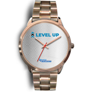 Level Up Women's Watch in Rose Gold - Silver Face