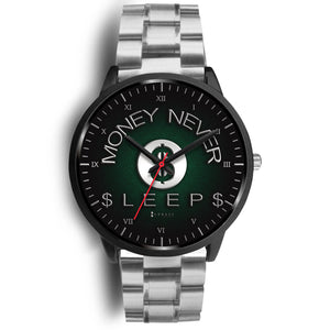 Money Never Sleeps Men's Watch in Black