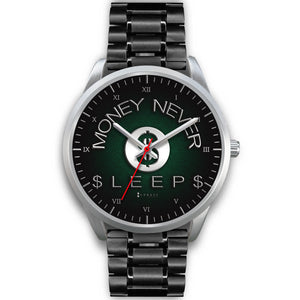 Money Never Sleeps Men's Watch in Silver