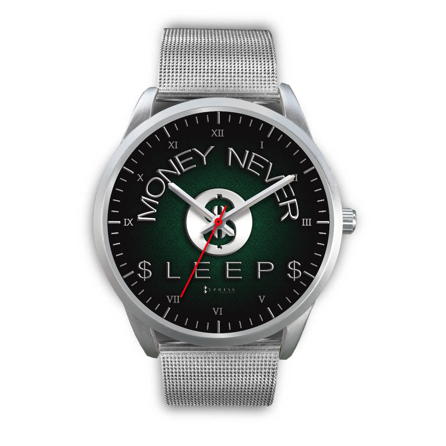 Money Never Sleeps Women's Watch in Silver