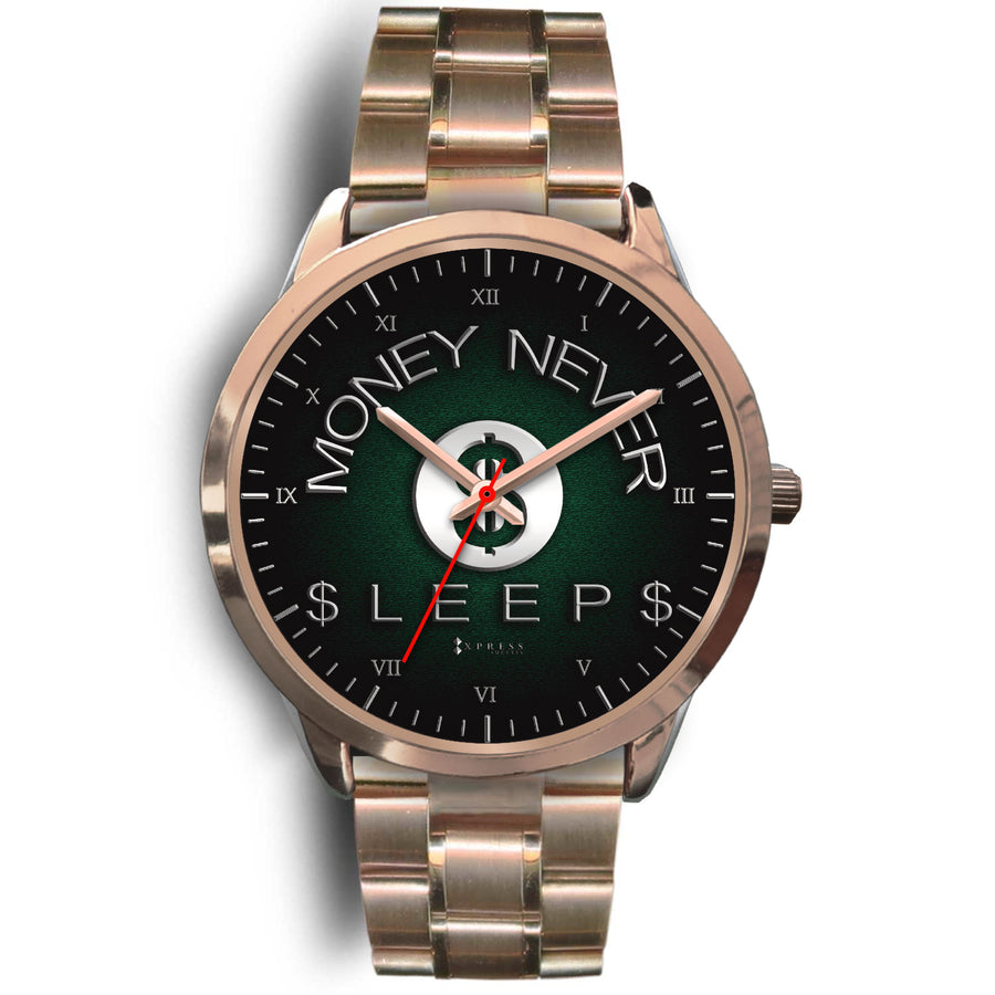 Money Never Sleeps Women's Watch in Rose Gold