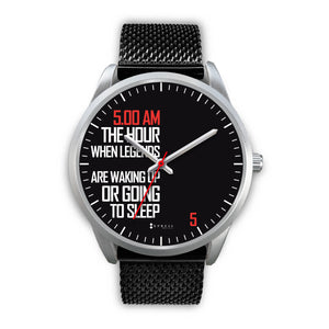 5:00 AM Men's Watch in Silver