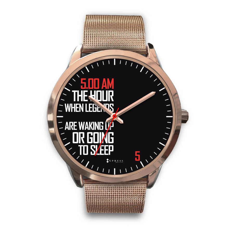 5:00 AM Women's Watch in Rose Gold