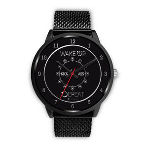 Wake Up Kick Ass Repeat Women's Watch in Black