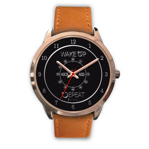 Wake Up Kick Ass Repeat Women's Watch in Rose Gold