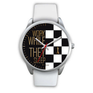 Work While They Sleep Men's Watch in Silver