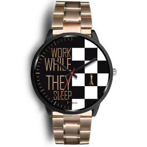 Work While They Sleep Women's Watch in Black
