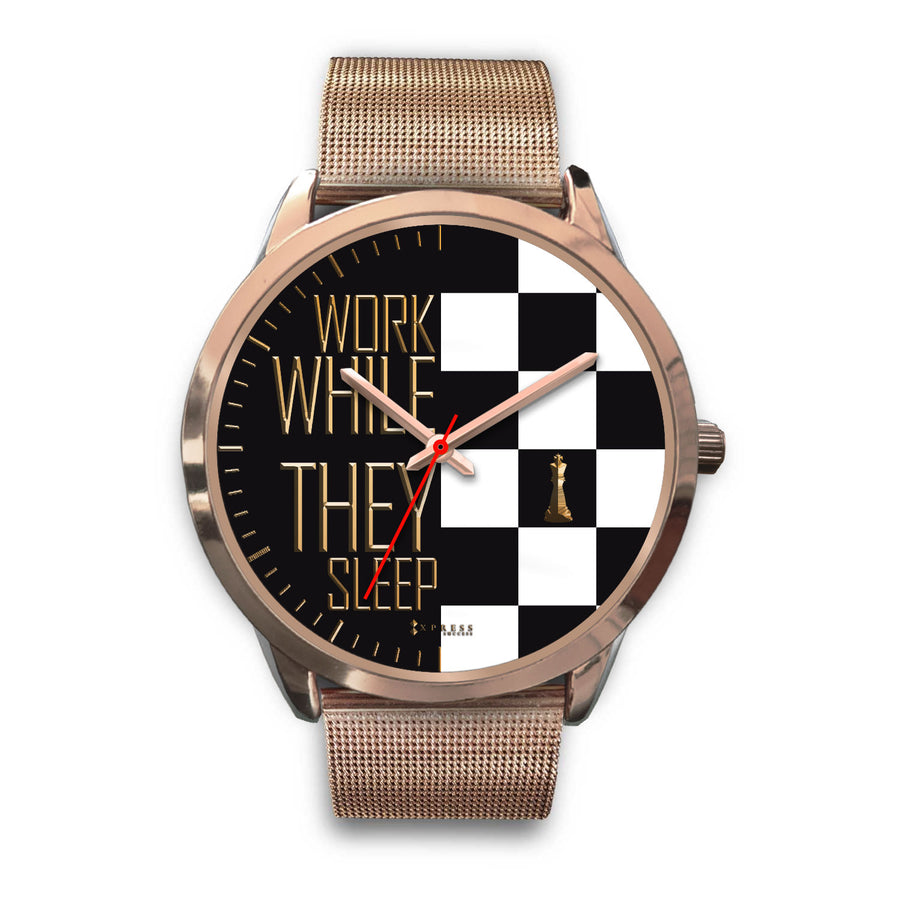 Work While They Sleep Women's Watch in Rose Gold