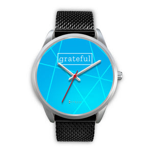 Men's Grateful Watch in Silver (Blue Face)