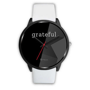 Men's Grateful Watch in Black (Black Face)