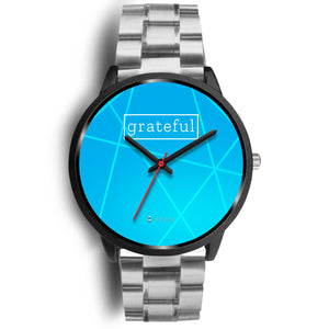 Women's Grateful Watch in Black (Blue Face)