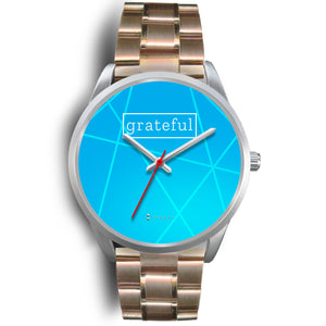 Women's Grateful Watch in Silver (Blue Face)