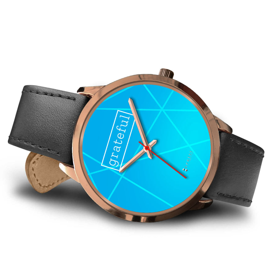 Women's Grateful Watch in Rose Gold (Blue Face)